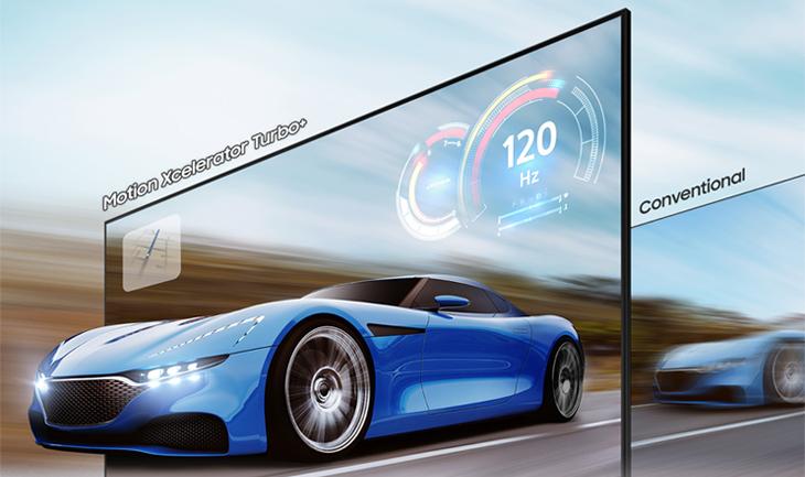 Smart Tivi Khung Tranh The Frame QLED Samsung 4K 75 inch QA75LS03A - Cảnh chuyển động hiển thị rõ nét nhờ công nghệ Motion Xcelerator Turbo+