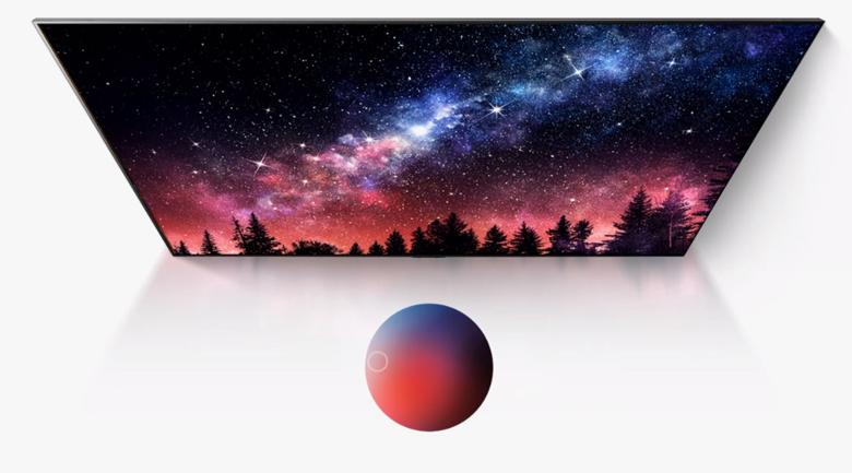 Smart Tivi OLED LG 4K 55 inch 55G1PTA - Màu đen tuyệt đối, màu sắc tái hiện trung thực 100% với công nghệ màn hình OLED