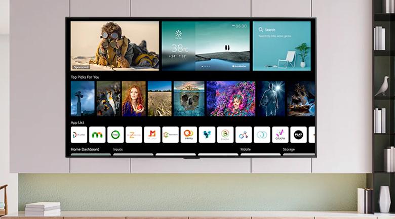 Smart Tivi OLED LG 4K 55 inch 55G1PTA - Hệ điều hành WebOS 6.0