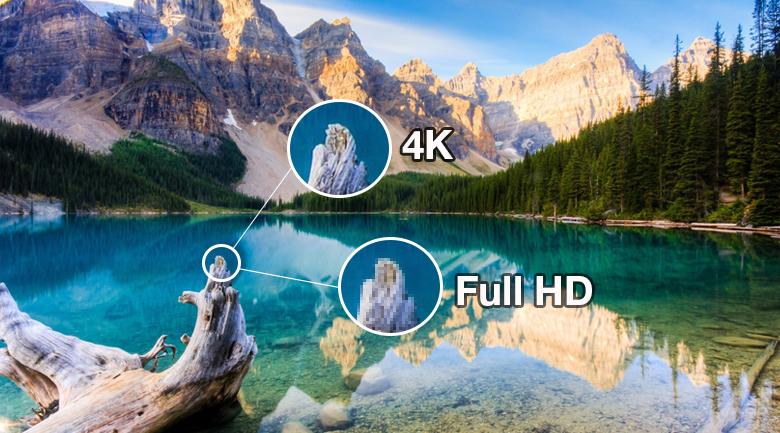 Smart Tivi OLED LG 4K 55 inch 55G1PTA - Hình ảnh nét gấp 4 lần Full HD nhờ độ phân giải 4K