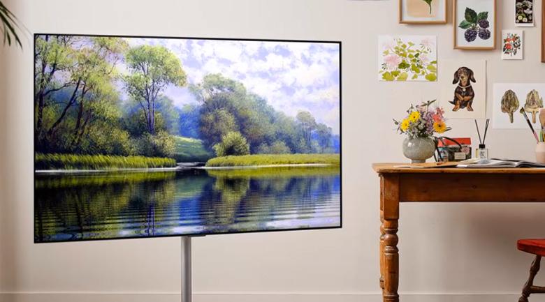 Smart Tivi OLED LG 4K 55 inch 55G1PTA - Thưởng thức hình ảnh chân thật, tự nhiên và âm thanh chuyên nghiệp nhờ công nghệ Cinema HDR