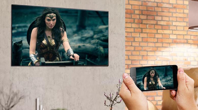 Smart Tivi OLED LG 4K 55 inch 55G1PTA - Chia sẻ màn hình điện thoại iPhone, Android lên tivi qua tính năng Airplay 2 và Screen Mirroring