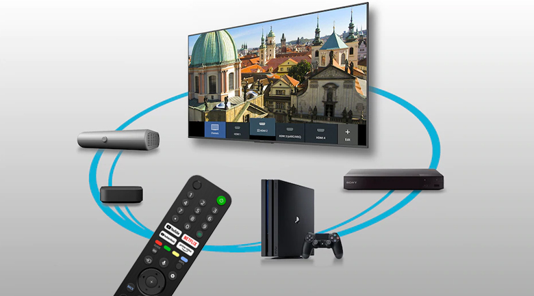 Android Tivi Sony 4K 50 inch KD-50X80J/S - Remote