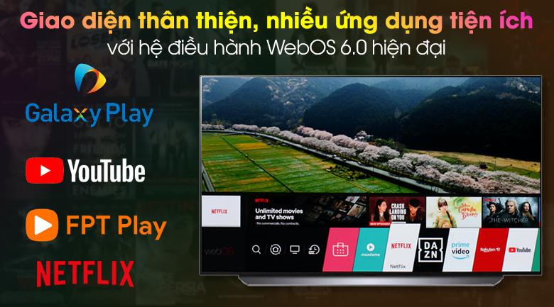 Hệ điều hành WebOS 6.0 - Smart tivi OLED LG 4K 77 inch 77C1PTB