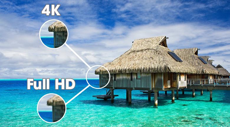 Độ phân giải 4K rõ nét gấp 4 lần FullHD - Smart tivi OLED LG 4K 77 inch 77C1PTB