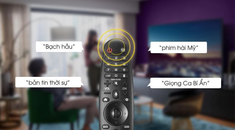 Tìm kiếm bằng giọng nói Tiếng VIệt thông qua Magic Remote -  Smart tivi OLED LG 4K 77 inch 77C1PTB
