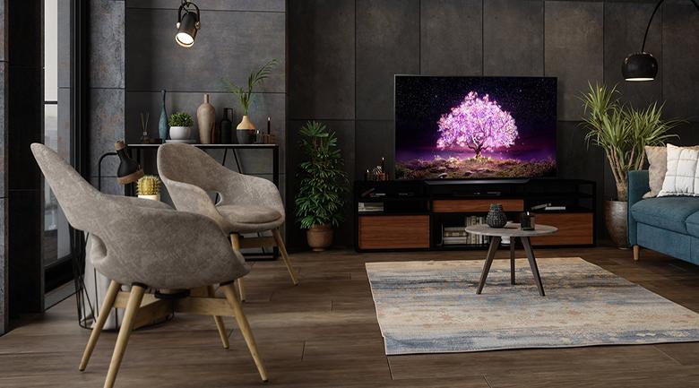 Thiết kế tinh gọn, hiện đại - Smart tivi OLED LG 4K 77 inch 77C1PTB