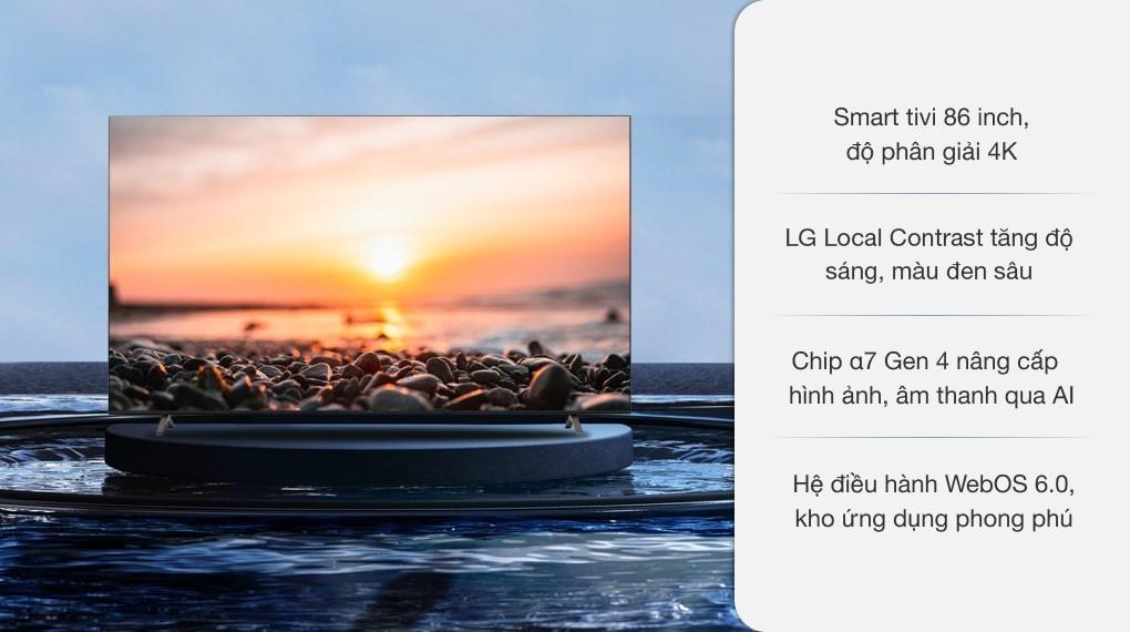 Smart Tivi LG 4K 86 inch 86UP8000PTB