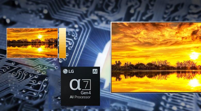 Bộ xử lý α7 Gen4 AI 4K - Smart Tivi OLED LG 4K 65 inch 65B1PTA