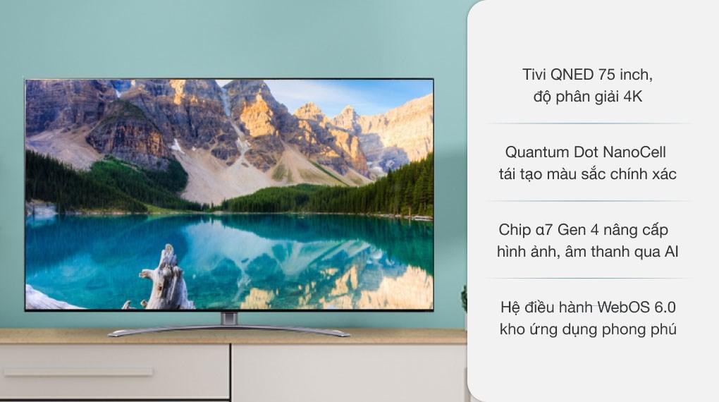 Smart Tivi QNED LG 4K 75 inch 75QNED91TPA