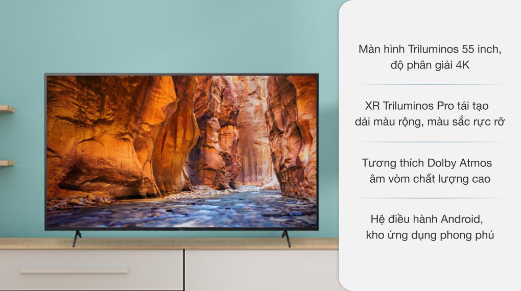 Android Tivi Sony 4K 55 inch KD-55X80AJ