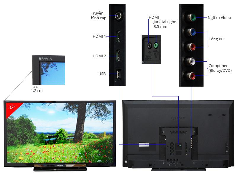 Thông số kỹ thuật Tivi LED Sony KLV-32R402A 32 inch