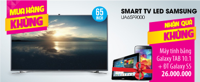 Smart Tivi 3D LED Samsung UA65F9000 65 inch