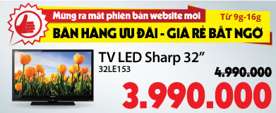 Tivi LED Sharp LC-32LE153M 32 inch