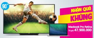 Khuyến mãi Tivi Smart Tivi 3D LED Sharp LC-90LE740X 90 inch