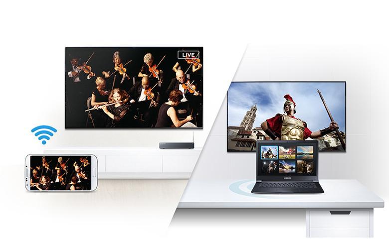 Smart View tiện ích cho phép điện thoại phản chiếu lại hình ảnh trên tivi