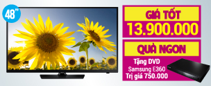 Khuyến mãi Tivi Tivi LED Samsung UA48H4200 48 inch