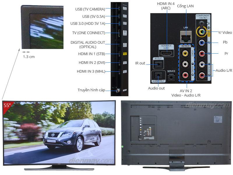 Thông số kỹ thuật Smart Tivi LED Samsung UA55HU7200 55 inch
