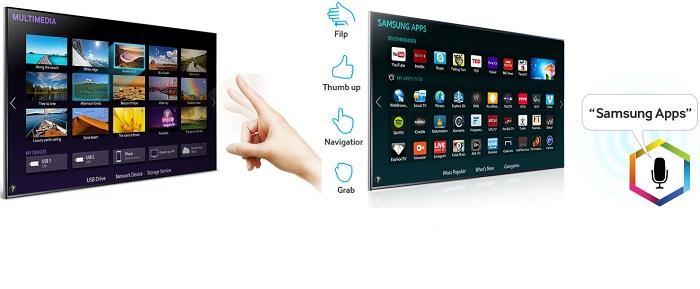 Giao diện thông minh Smart Hub và khả năng điều khiển bằng cử chỉ ngón tay