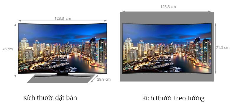 Chi tiết thiết kế Smart Tivi LED Samsung UA55HU7200 55 inches