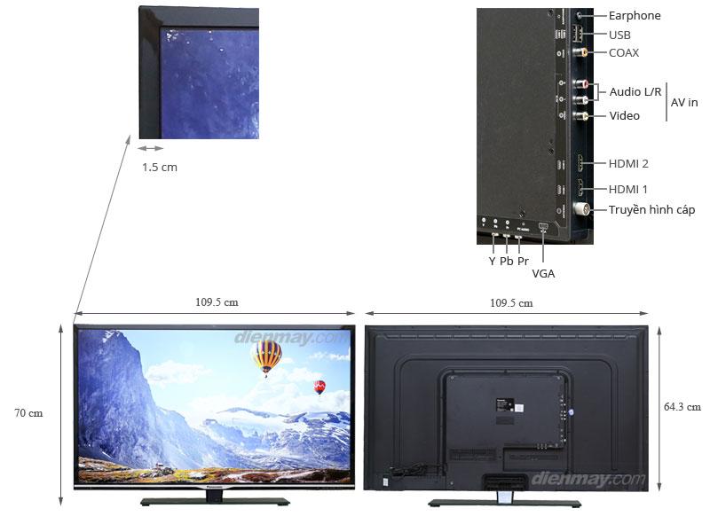 Thông số kỹ thuật Tivi LED Panasonic TH-48A402V 48inch
