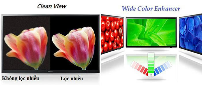 Công nghệ lọc nhiễu Clean View và chức năng Wide Color Enhancer