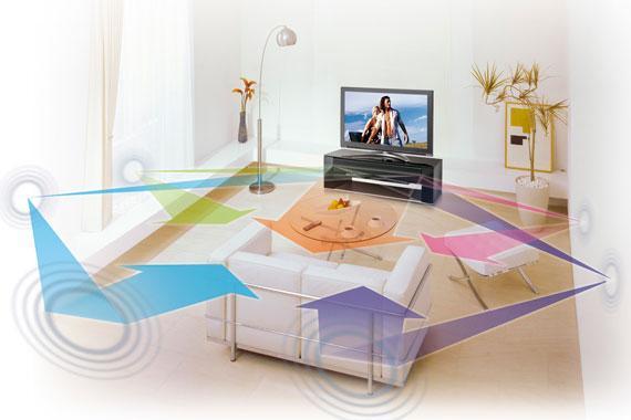 Âm thanh vòm cho hiệu quả ấn tượng khi xem tivi