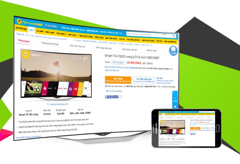 Smart Tivi 3D OLED LG 55EC930T 55 inch - Phản chiếu hình ảnh từ điện thoại lên tivi chỉ với vài thao tác đơn giản