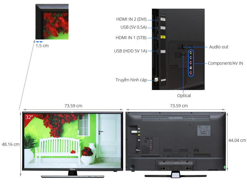 Thông số kỹ thuật Tivi LED SamsungUA32J4100 32 inch