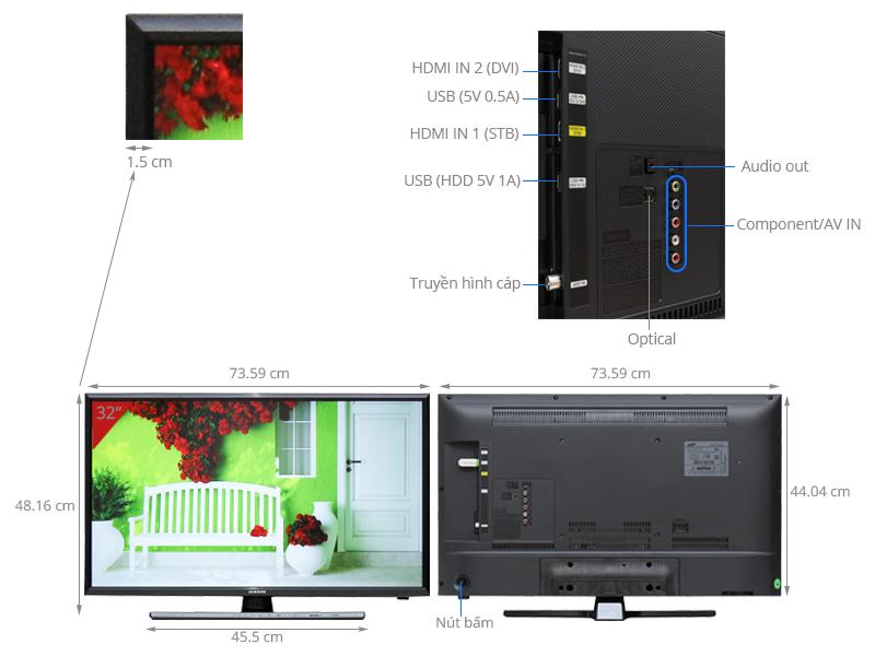 Thông số kỹ thuật Tivi Samsung32 inch UA32J4100