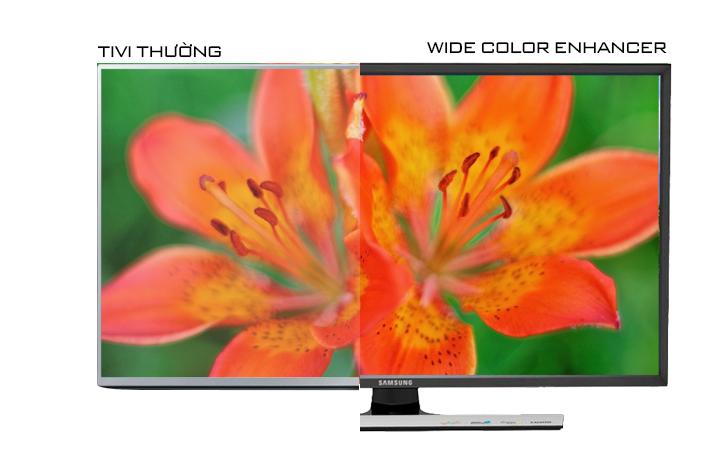 Tivi LED Samsung UA32J4100 32 inch - Công nghệ Wide Color Enhancer Plus mang đến màu sắc rực rỡ mà không kém phần tự nhiên cho hình ảnh