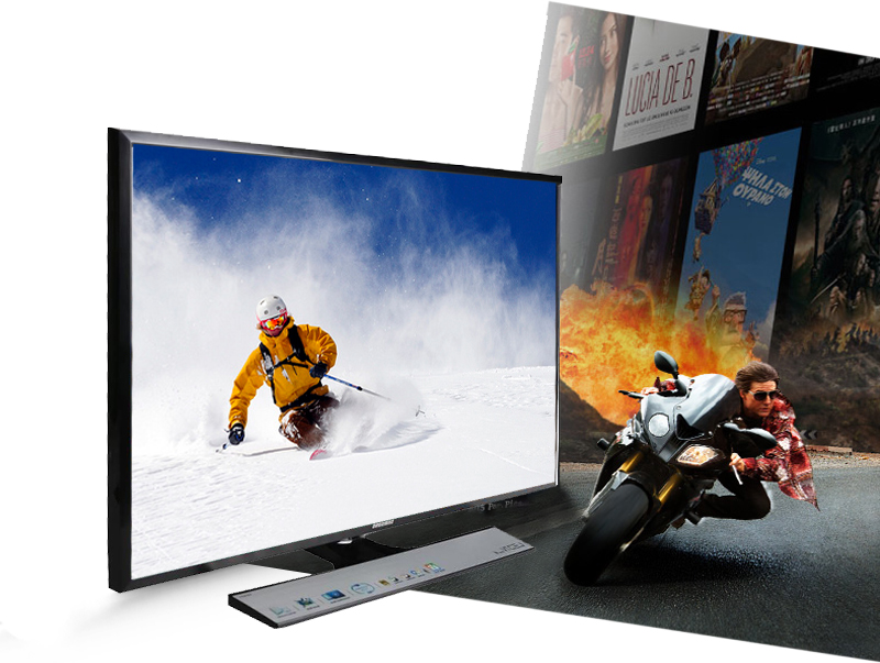 Tivi LED Samsung UA32J4100 32 inch -Tần số quét 100 Hz đủ để trải nghiệm phim hành động hay thể thao của bạn trở nên tuyệt vời