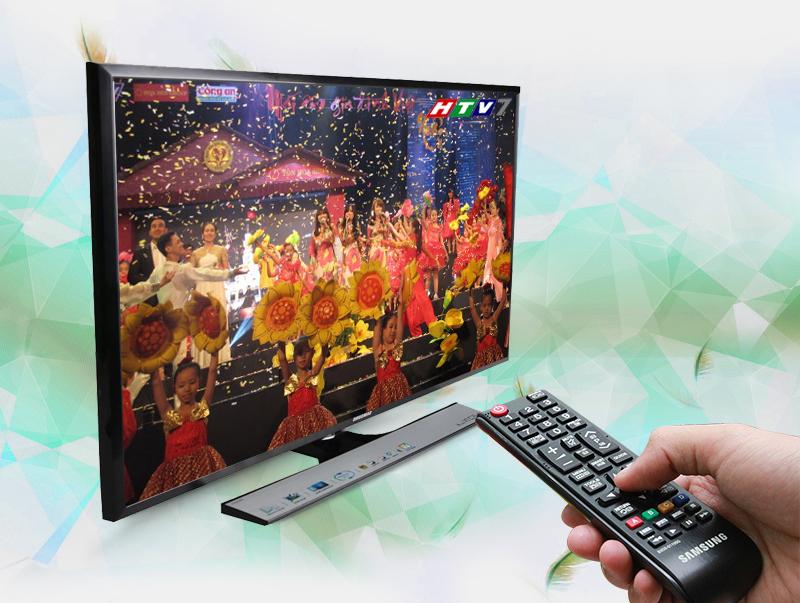 Tivi LED Samsung UA32J4100 32 inch - Tích hợp sẵn đầu thu DVB-T2 giúp xem được nhiều kênh truyền hình kỹ thuật số miễn phí