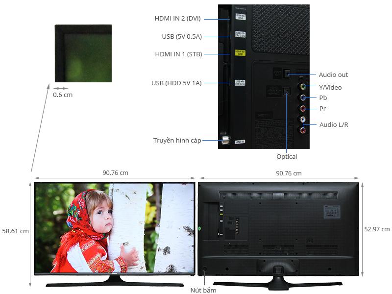 Thông số kỹ thuật Tivi Samsung 40 inch UA40J5100