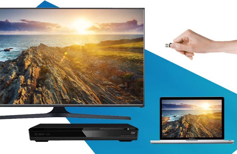 Tivi LED Samsung UA48J5100 48 inch   - Đa dạng cổng kết nối để chia sẻ nội dung với nhiều thiết bị như laptop, USB, …