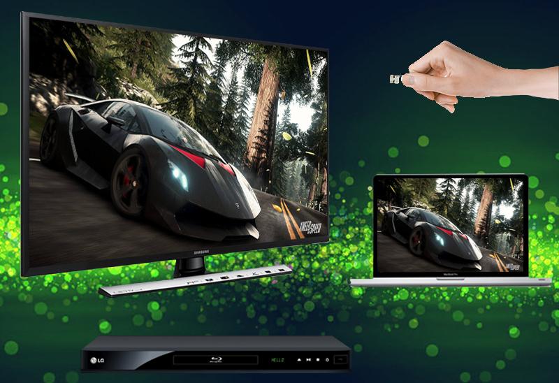 Kết nối được với các thiết bị giải trí như laptop, USB, đầu đĩa…