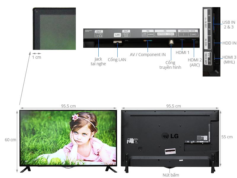 Thông số kỹ thuật Smart Tivi LG 42 inch 42UB700T