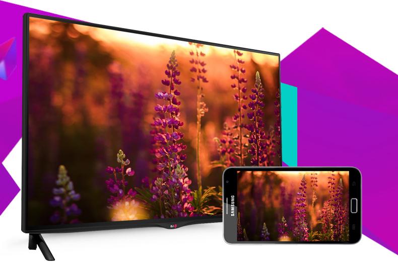 Smart Tivi LG 42UB700T 42 inch - Hiển thị hình ảnh từ điện thoại lên màn hình rộng của tivi dễ dàng