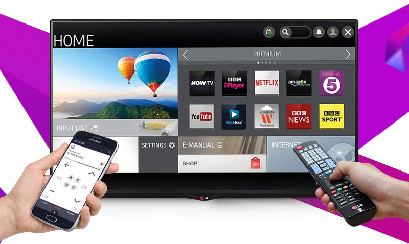 Smart Tivi LG 42UB700T 42 inch - Điện thoại như chiếc điều khiển thứ hai của tivi nhờ ứng dụng LG TV Remote