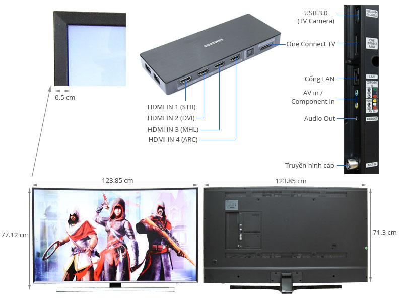 Thông số kỹ thuật Smart Tivi Curved Samsung UA55JU7500 55 inch