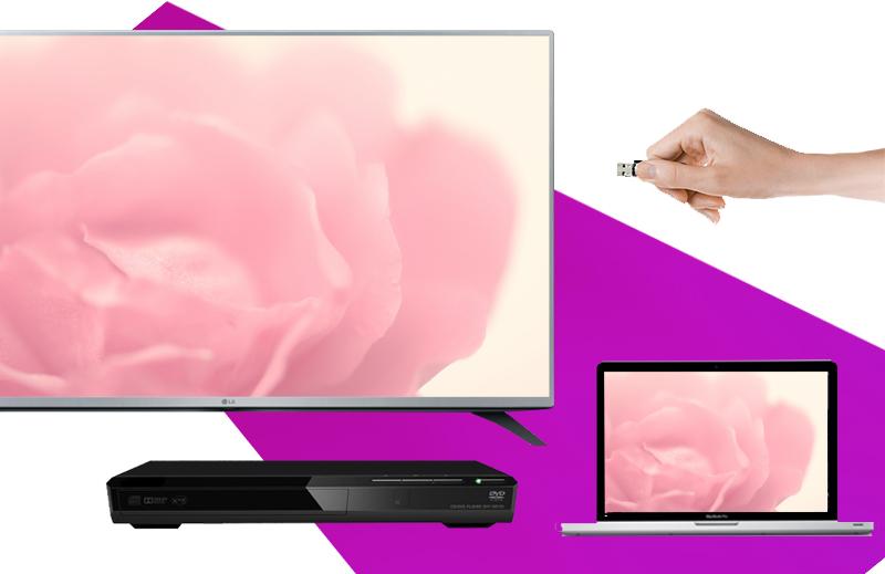 Tivi LED LG 49LF540T 49 inch - Tiện lợi với khả năng kết nối đa dạng với nhiều thiết bị ngoài như laptop, USB, đầu DVD,…