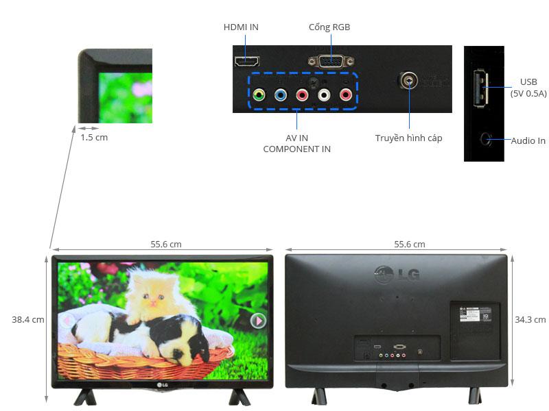 Thông số kỹ thuật Tivi LED LG 24LF450D 24 inch