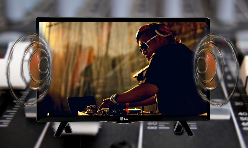 Tivi LED LG 24LF450D 24 inch - Thỏa sức tận hưởng không gian âm nhạc lý tưởng với công nghệ giả lập âm thanh vòm Virtual Surround