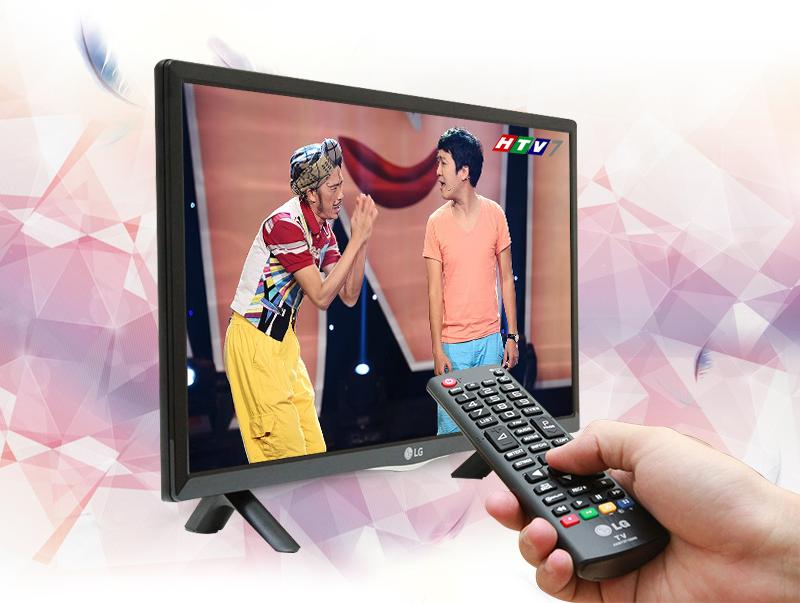 Tivi LED LG 24LF450D 24 inch - Tivi được tích hợp sẵn đầu thu DVB-T2 với khả năng thu được các kênh truyền hình kỹ thuật số miễn phí
