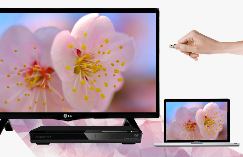 Tivi LED LG 24LF450D 24 inch -  Kết nối phong phú, đa dạng