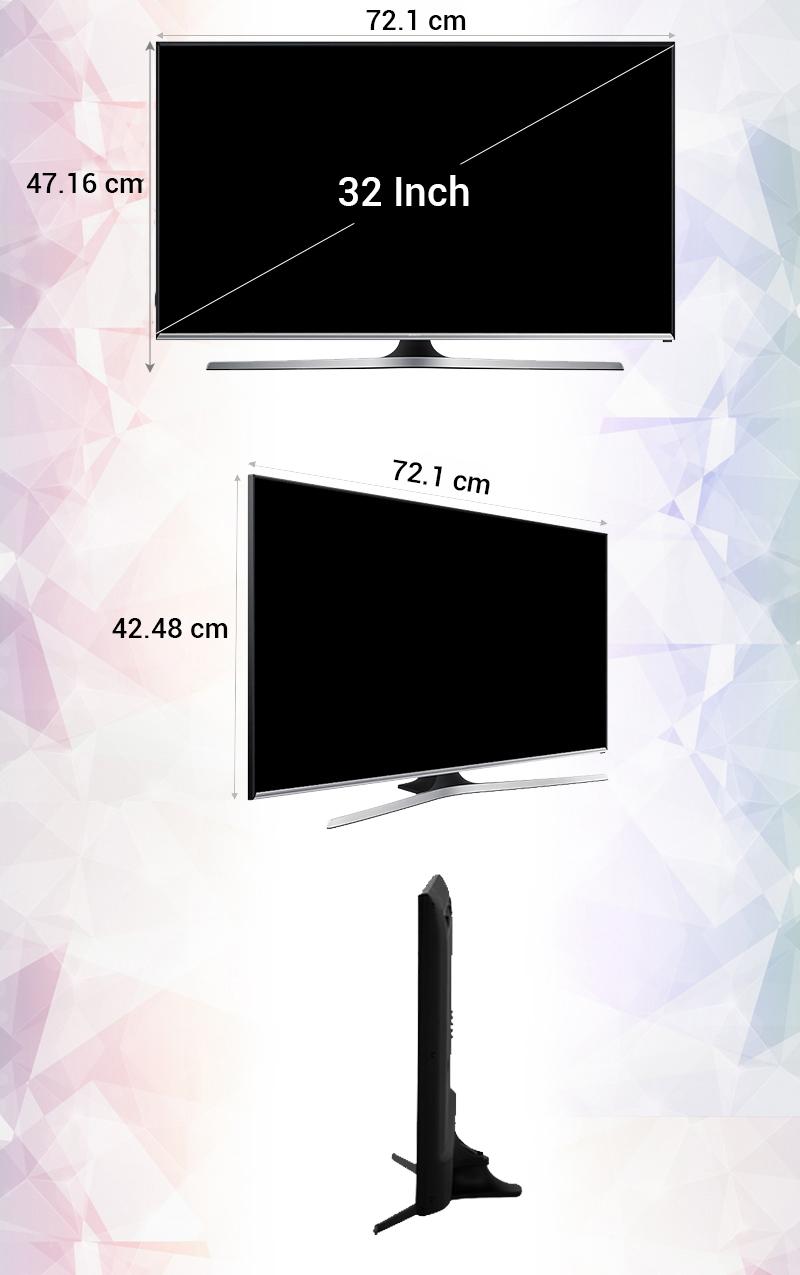 Smart Tivi 32 inch Samsung UA32J5500 - Kích thước