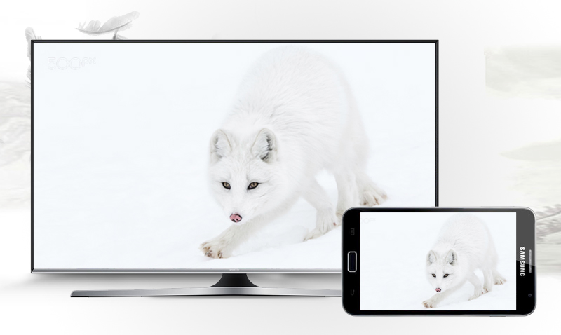 Smart Tivi Samsung 40 inch UA40J5500 - Chiếu hình ảnh từ điện thoại lên tivi không cần dây cáp
