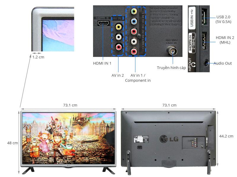 Thông số kỹ thuật Tivi LG 32 inch 32LF550D