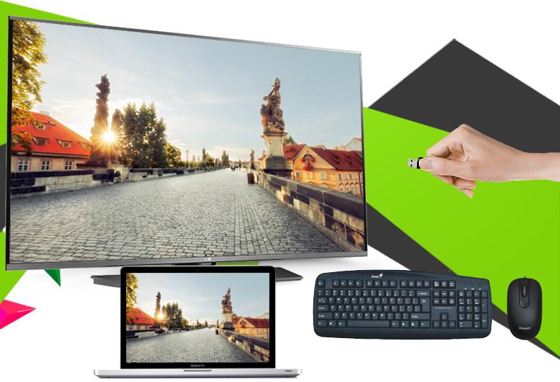 Smart Tivi LG 49 inch 49LF630T - Kết nối nhiều thiết bị giải trí khác qua cổng HDMI, USB, AV, Optical…