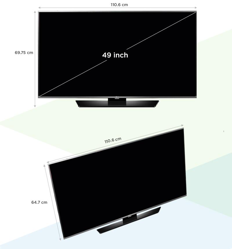 Smart Tivi LG 49 inch 49LF630T - Kích thước